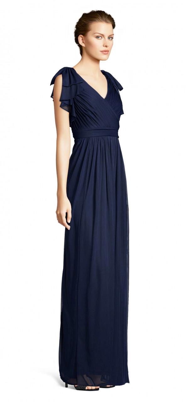 Bow detail drape dress
