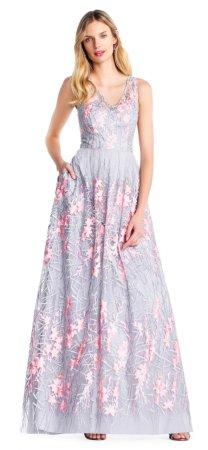 vestido bordado de flores