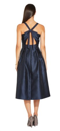 Mikado tie back dress