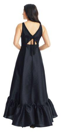 vestido de baile alto mikado