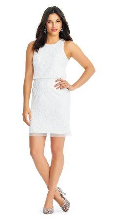 Fully beaded short dress