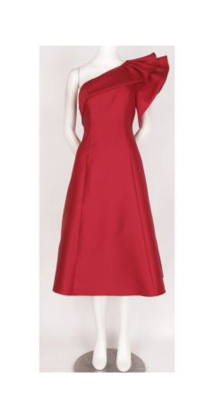 One Shoulder Cocktail Dress with Ruffle Detail