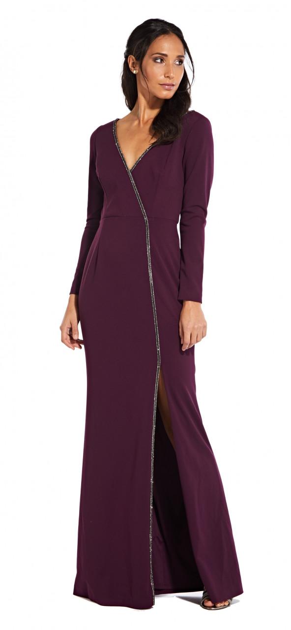 Long crepe dress