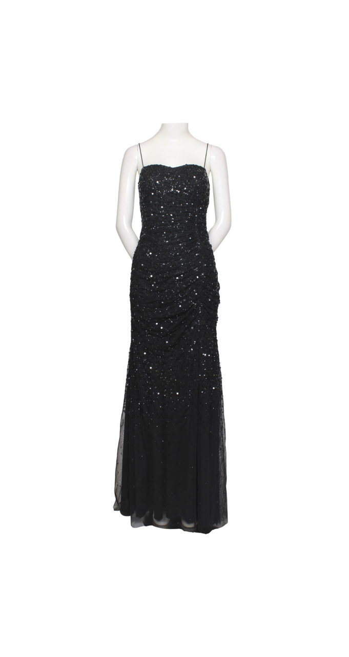 Beaded shirred gown