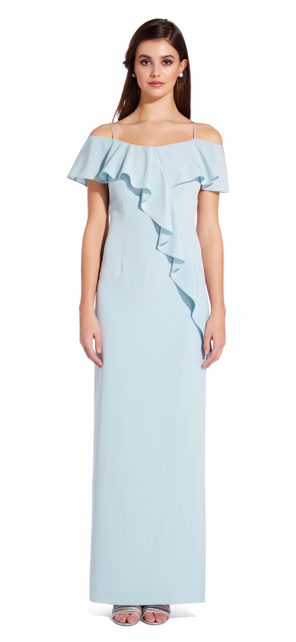 Flounce crepe dress