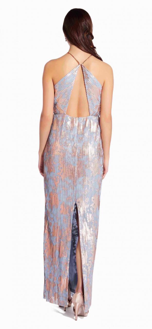 Pleated foil dress