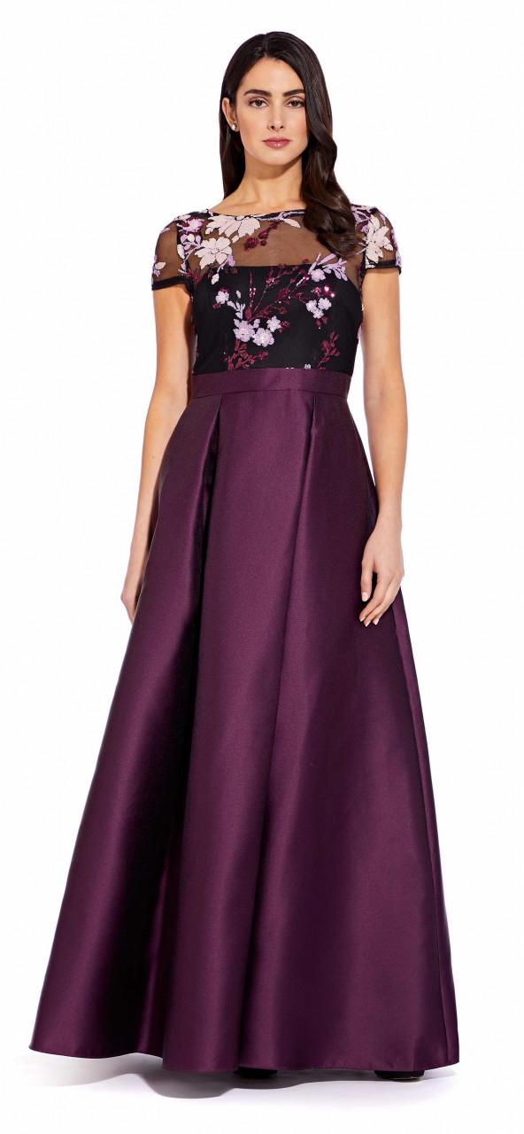 Sequin mikado dress