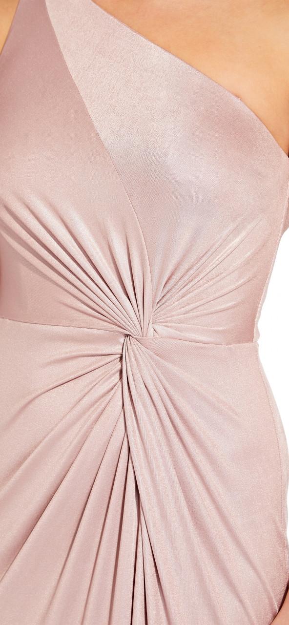Foil jersey long dress