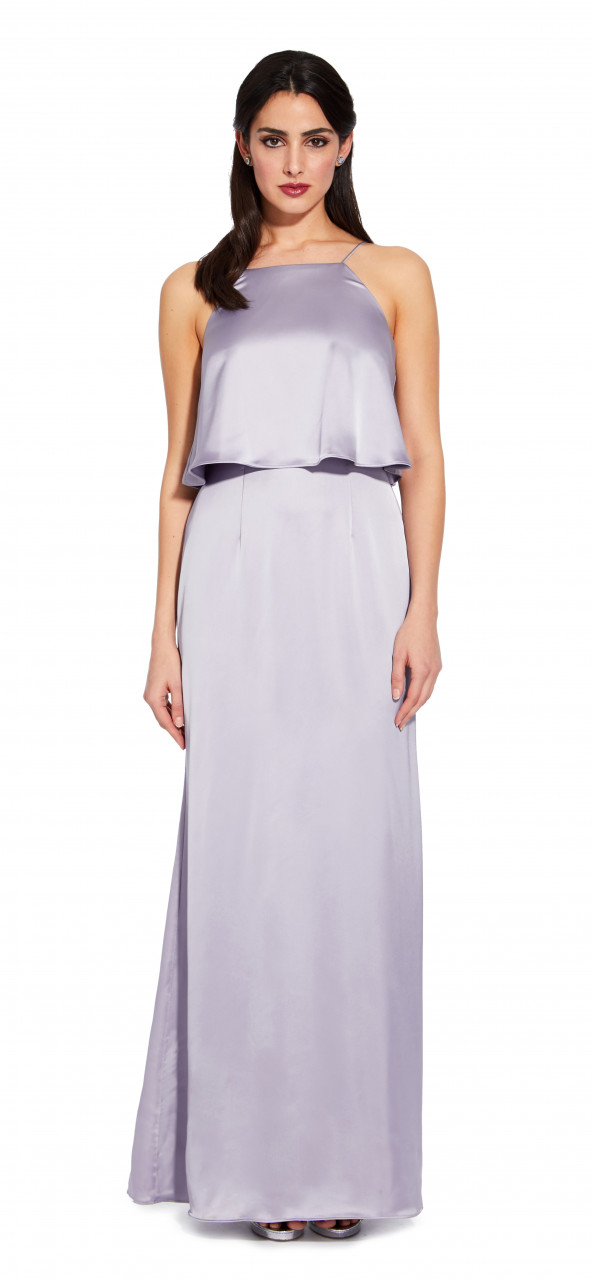 Popover satin dress