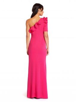 Long draped crepe dress