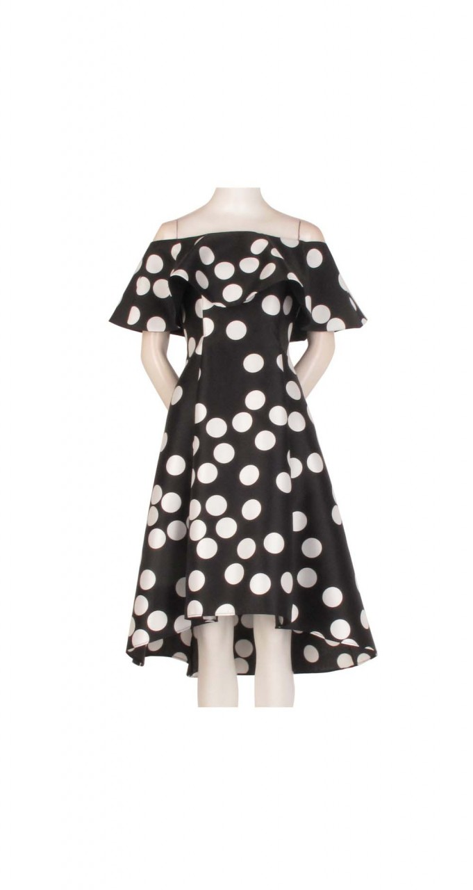 Dot mikado dress