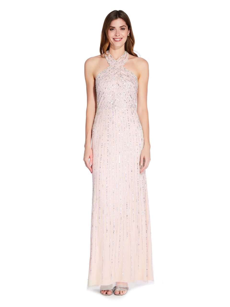 Halter beaded gown