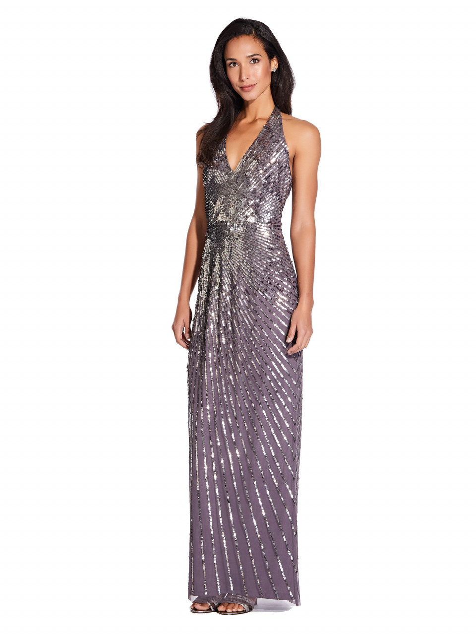 Beaded halter gown