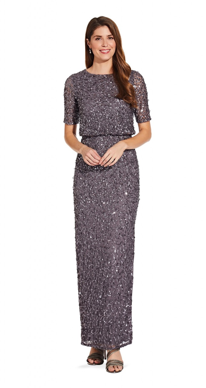 Beaded long dress