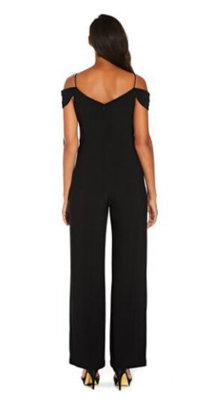 Off the shoulder jumpsuit with button detail