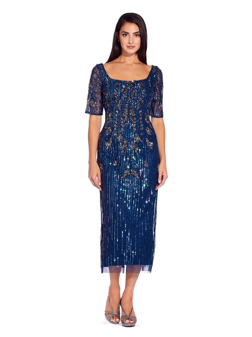 Beaded mesh dress
