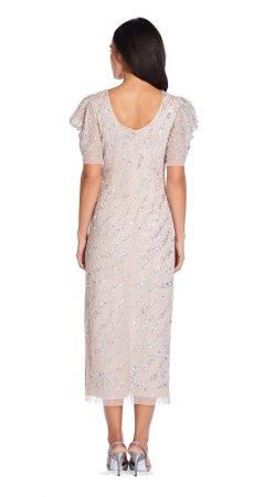 Beaded ankle length dress
