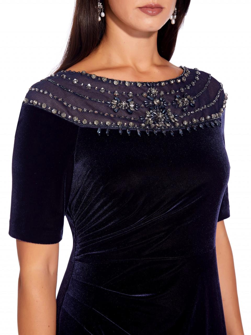 Velvet beaded gown