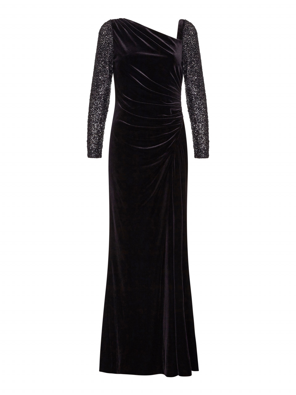 Velvet and sequin gown