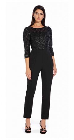 Sequin bodice jumpsuit