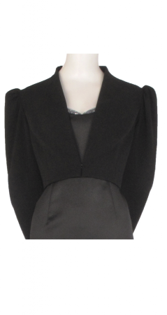 Puff sleeve cropped jacket