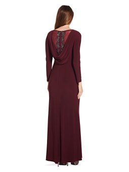Draped jersey gown