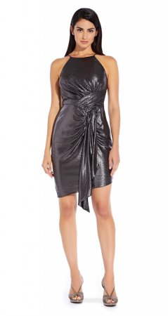 Metallic jersey dress