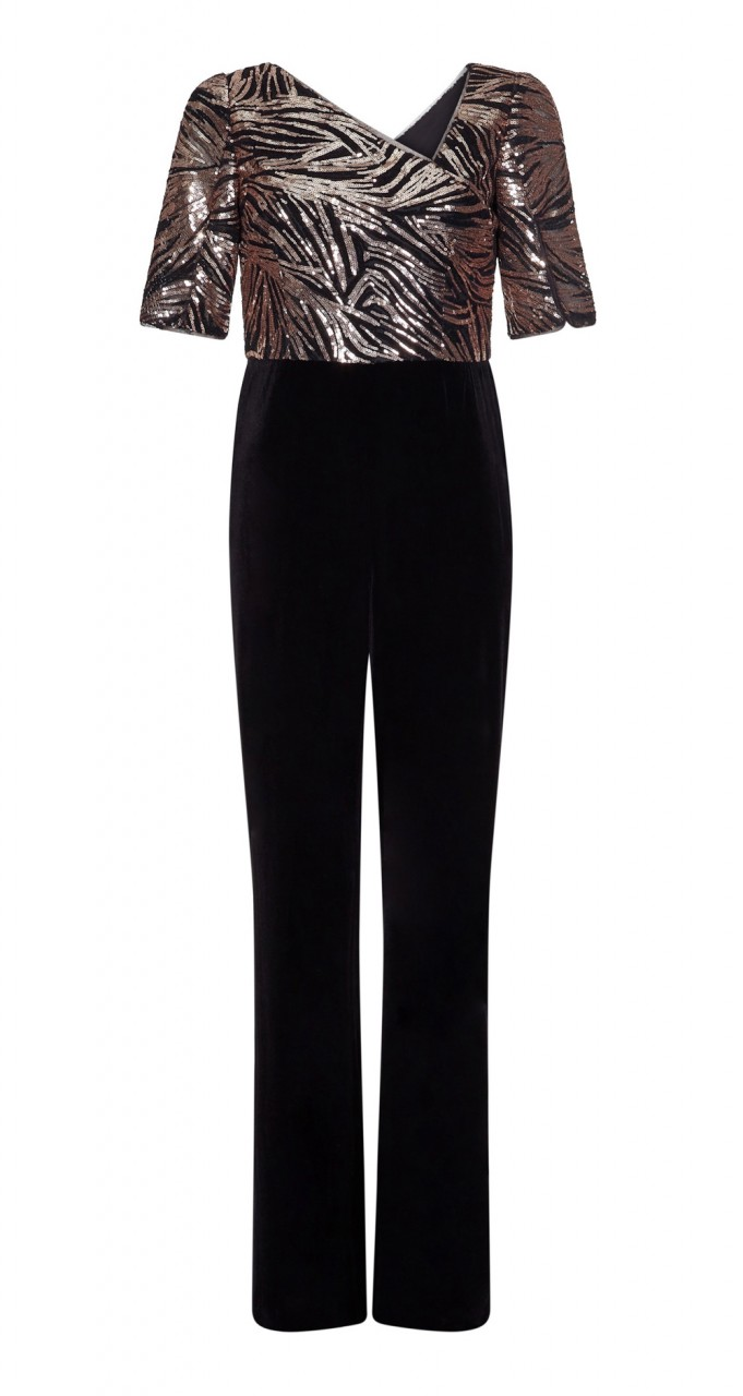 Combo sequin jumpsuit