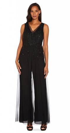 Beaded georgette jumpsuit
