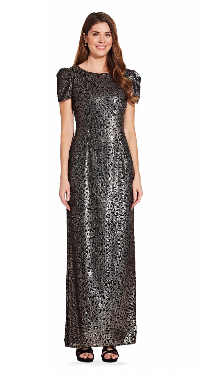 Sequin column gown