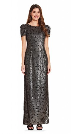 Sequin column gown