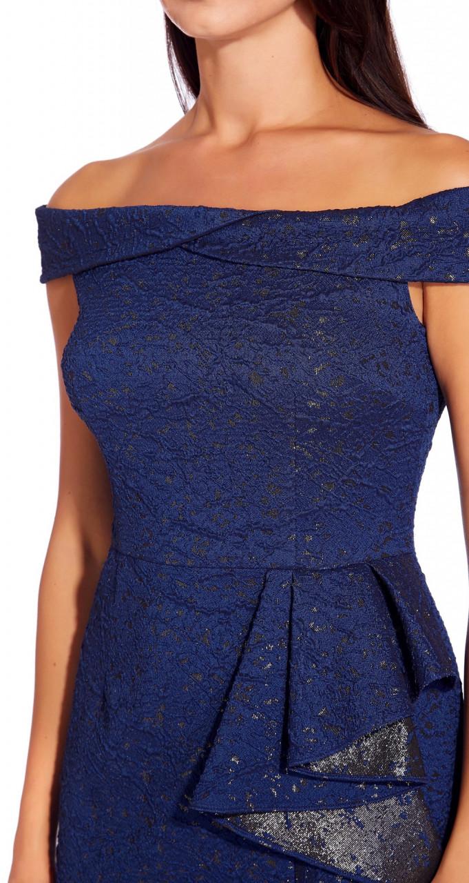 Metallic jacquard gown