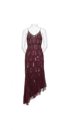 Bead asymmetrical dress