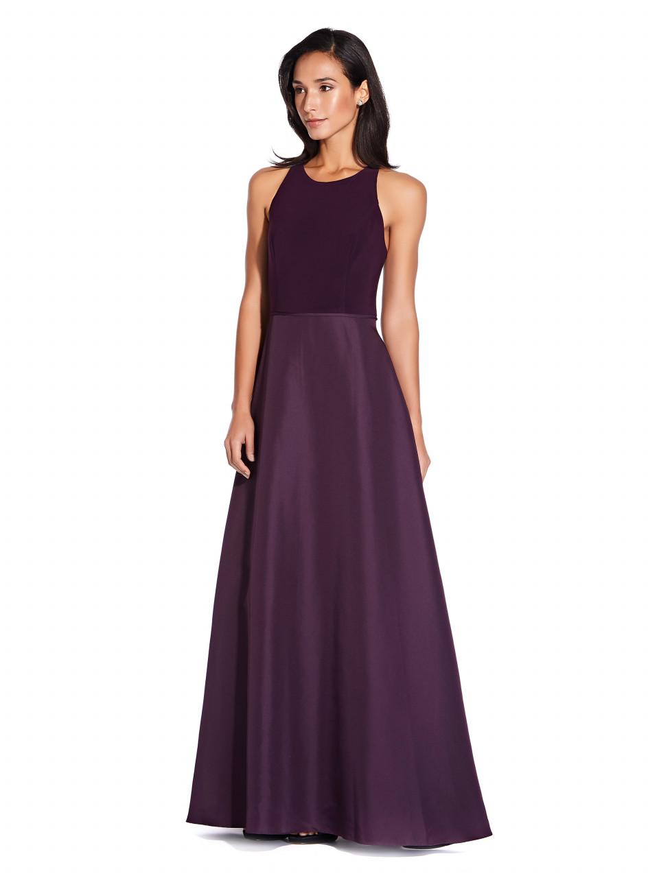 Jersey taffeta dress
