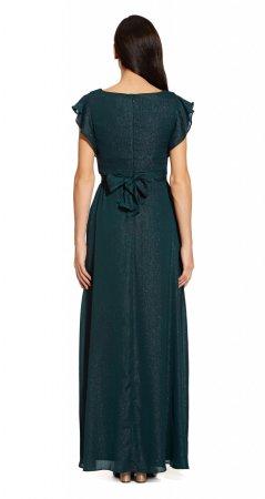 Metallic chiffon dress