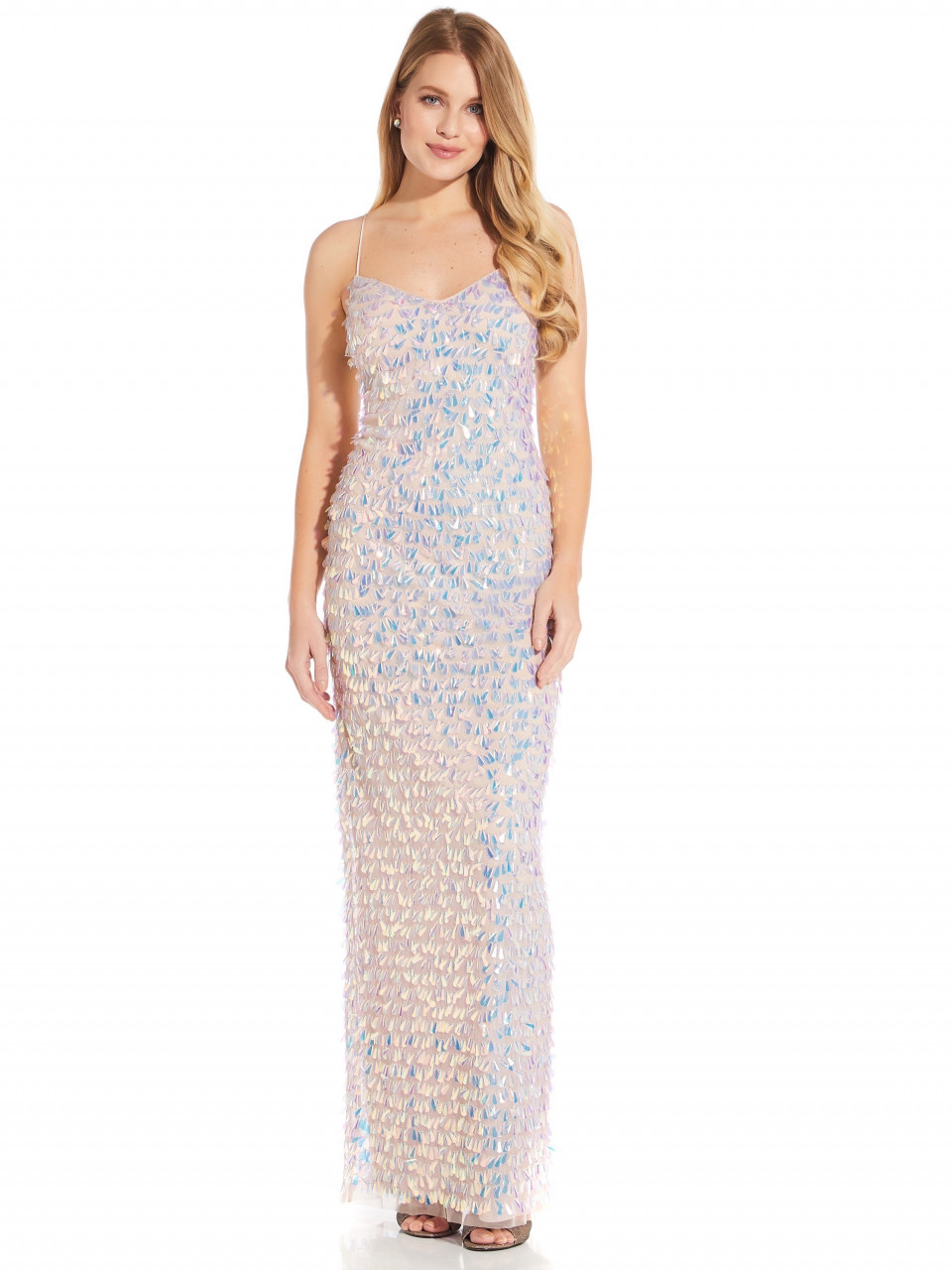 Beaded Slim Column Gown