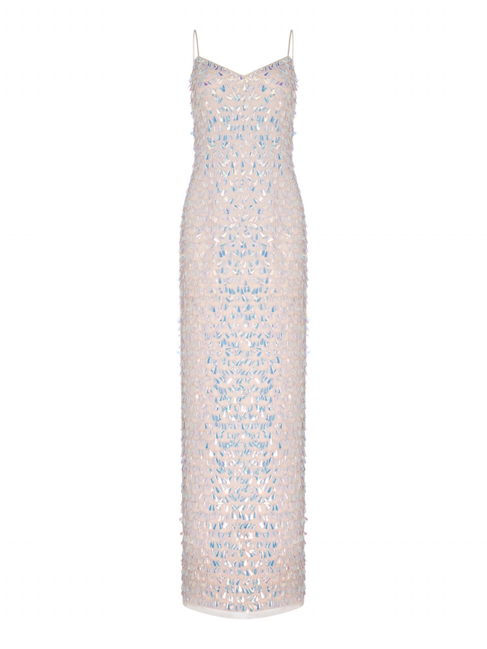 Beaded Slim Column Gown