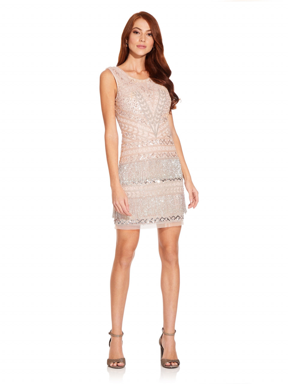 Beaded Fringe Cocktail Dress