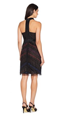Beaded short halter dress
