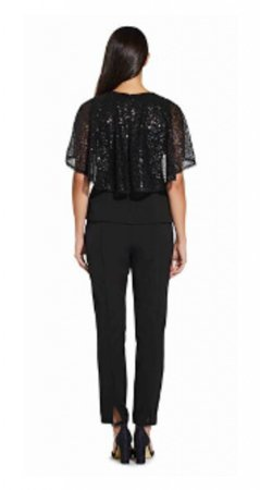 Sequin crepe top