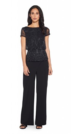 Beaded blouson top