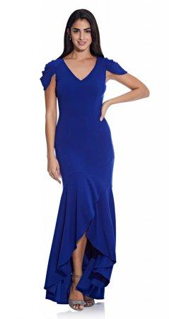 Mermaid crepe gown