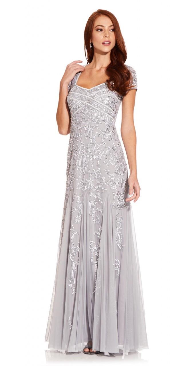 Bead godet gown