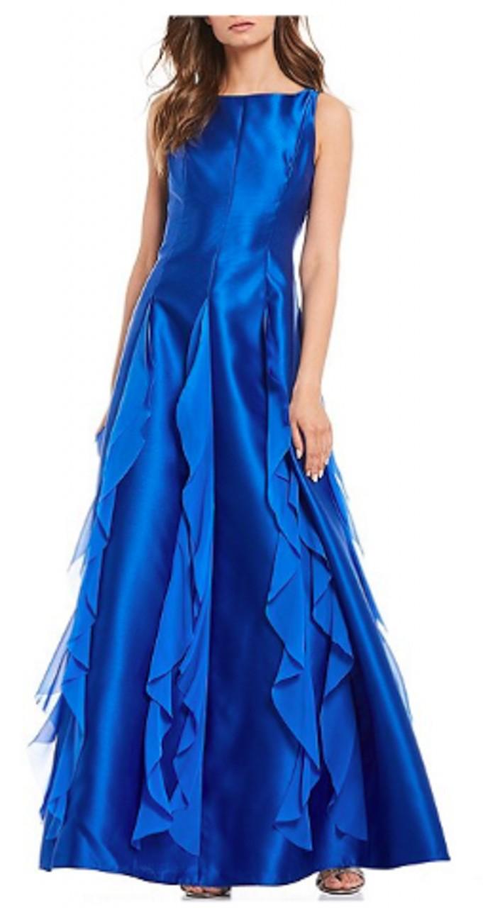 Mikado chiffon gown