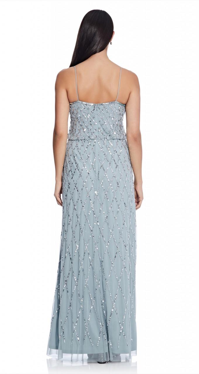 Blouson beaded dress
