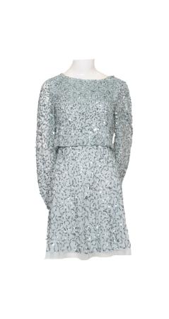 Beaded a-line cocktial dress