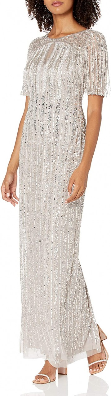 Beaded column gown