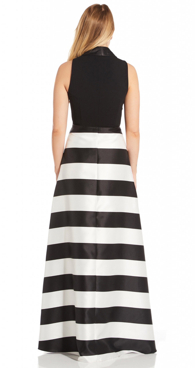 Stripe mikado dress