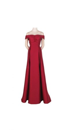 Mikado off shoulder gown