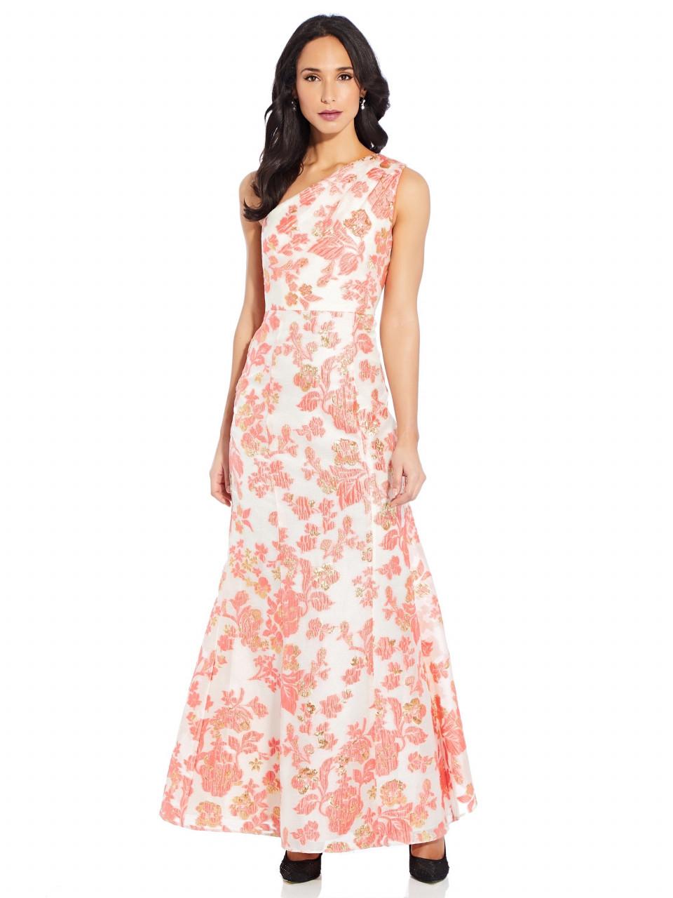 Floral jacquard gown